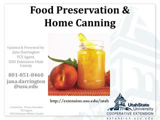Food Preservation & Home Canning