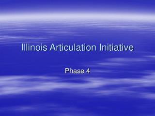 Illinois Articulation Initiative