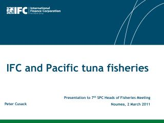 IFC and Pacific tuna fisheries