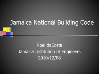 Jamaica National Building Code