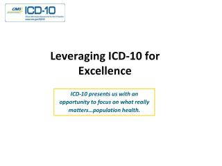 Leveraging ICD-10 for Excellence