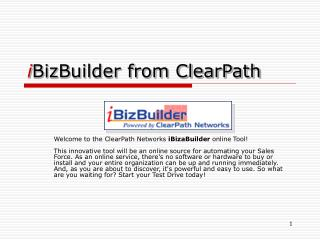 i BizBuilder from ClearPath