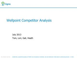 Wellpoint Competitor Analysis