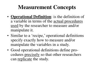 Measurement Concepts