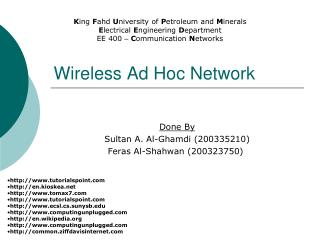 Wireless Ad Hoc Network