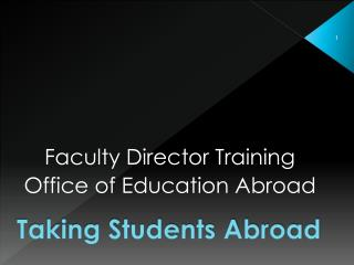 Taking Students Abroad
