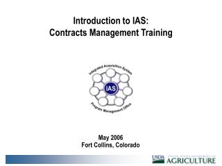 Introduction to IAS: Contracts Management Training