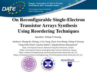 On Reconfigurable Single-Electron Transistor Arrays Synthesis Using Reordering Techniques