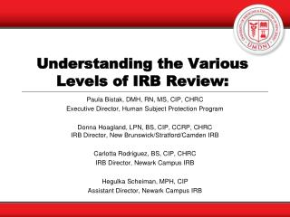 Understanding the Various Levels of IRB Review: