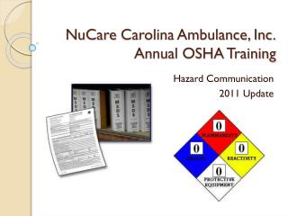 NuCare  Carolina Ambulance, Inc. Annual OSHA Training