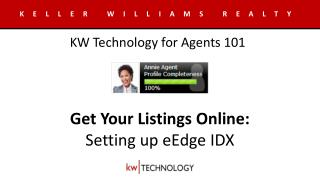 Get Your Listings Online: Setting up  eEdge IDX