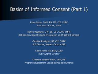 Basics of Informed Consent (Part 1)