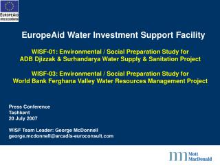 EuropeAid Water Investment Support Facility