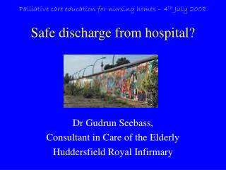 Safe discharge from hospital?