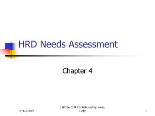 HRD Needs Assessment