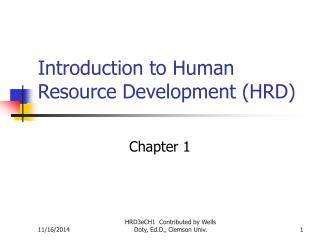 Introduction to Human Resource Development (HRD)
