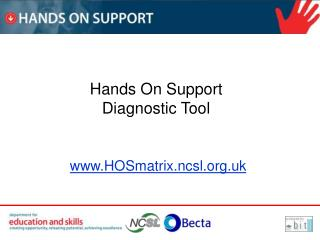 Hands On Support Diagnostic Tool