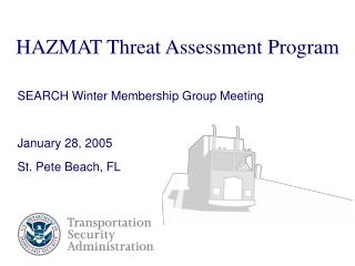 HAZMAT Threat Assessment Program