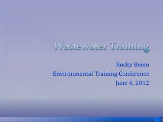 Wastewater Training
