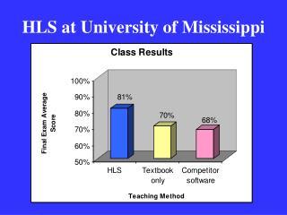 HLS at University of Mississippi