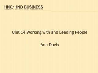 HNC/HND BUSINESS