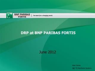 DRP at BNP PARIBAS FORTIS