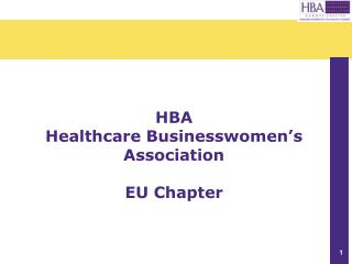HBA Healthcare Businesswomen�s Association EU Chapter