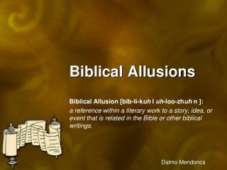 Biblical Allusions