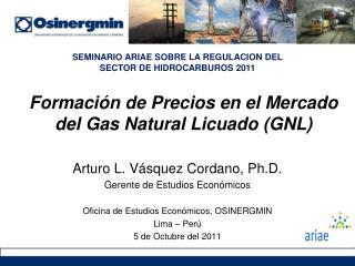 Formaci ón de Precios en el Mercado del Gas Natural Licuado  (GNL)