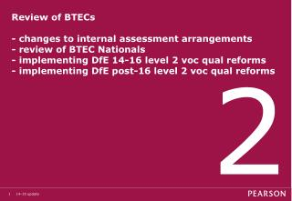 Changes to BTEC assessment requirements