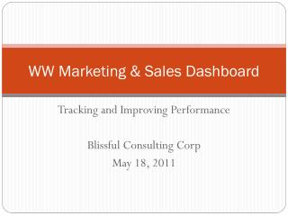 WW Marketing & Sales Dashboard