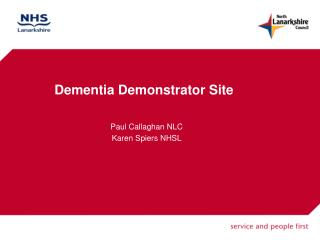Dementia Demonstrator Site