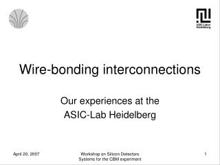 Wire-bonding interconnections