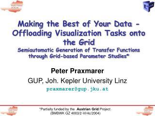 Peter Praxmarer GUP, Joh. Kepler University Linz praxmarer@gup.jku.at