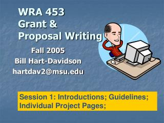 WRA 453 Grant &  Proposal Writing