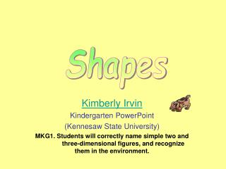 Kimberly Irvin Kindergarten PowerPoint (Kennesaw State University)