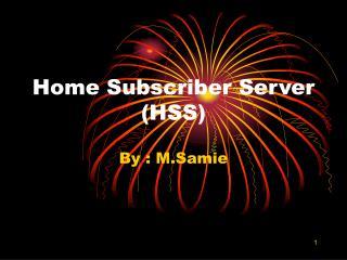 Home Subscriber Server (HSS)