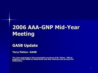 2006 AAA-GNP Mid-Year Meeting
