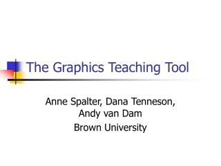 The Graphics Teaching Tool
