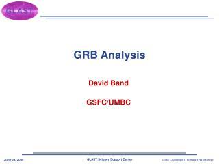 GRB Analysis