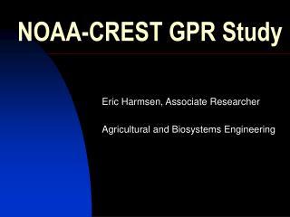 NOAA-CREST GPR Study