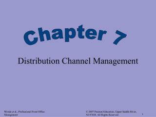 Distribution Channel Management
