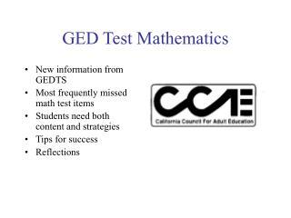 GED Test Mathematics
