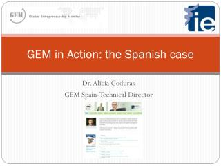 GEM in Action: the Spanish case