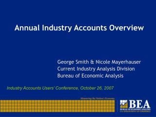 Annual Industry Accounts Overview