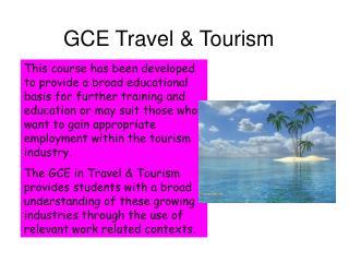 GCE Travel & Tourism