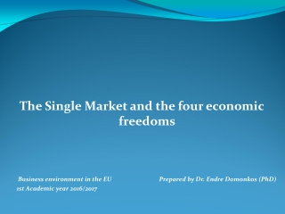 Law of the European Union and European Community Free Movement of Persons