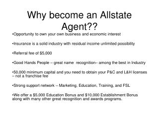 Why become an Allstate Agent??