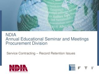 NDIA  Annual Educational Seminar and Meetings Procurement Division