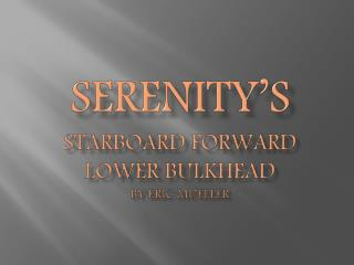 Serenity's Starboard Forward  lower Bulkhead by Eric Mueller